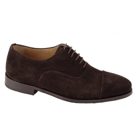 ZAPATO VESTIR MARRON ANTE 7695PC