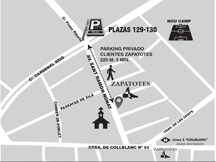 Parking clientes Zapatotes Barcelona